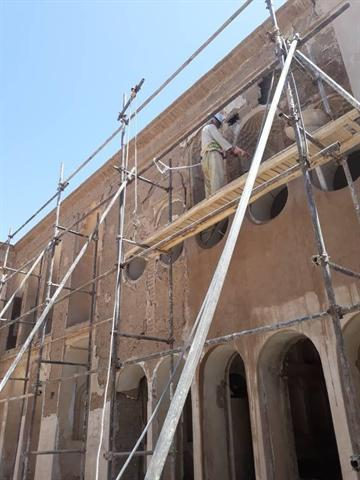 انتها عملیات مرمت خانه تاریخی ارباب حسین مهاباد در اردستان