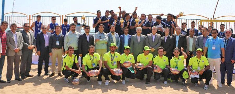 هرمزگان قهرمان اولین دوره رقابت های کبدی ساحلی کارگران شد