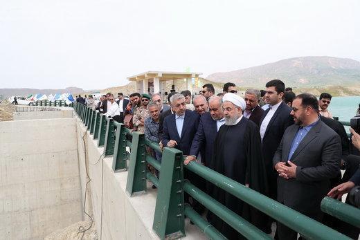 افتتاح سد مخزنی و شبکه آبیاری و زهکشی احمد بیگلو مشگین شهر توسط روحانی