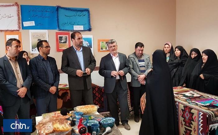 نمایشگاه آثار صنایع دستی بانوان در ارداق بوئین زهرا
