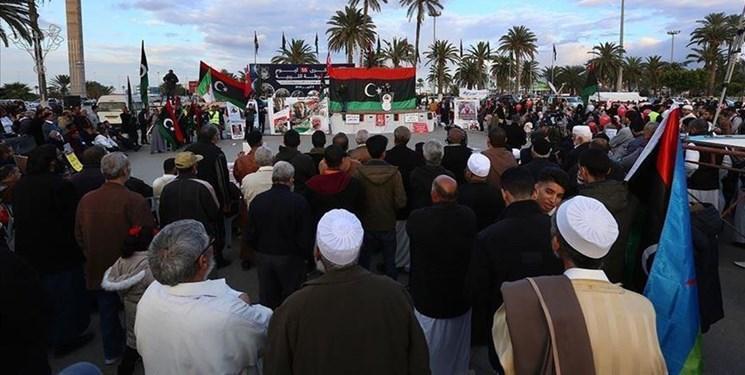 تظاهرات مردم لیبی در محکومیت تجاوزات نیروهای حفتر