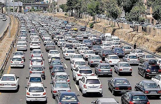 افزایش 80 درصدی ترافیک شهر کرمانشاه بعد از تعطیلات