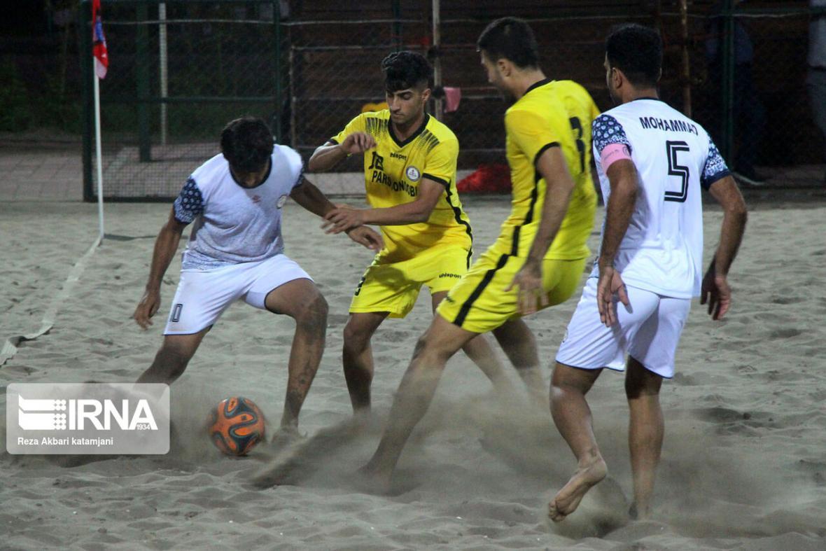 خبرنگاران شروع فصل جدید لیگ برتر فوتبال ساحلی به میزبانی بندرانزلی