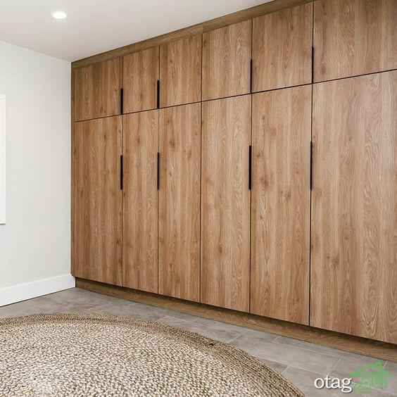 طرح کمد دیواری اتاق خواب مد روز در طراحی داخلی