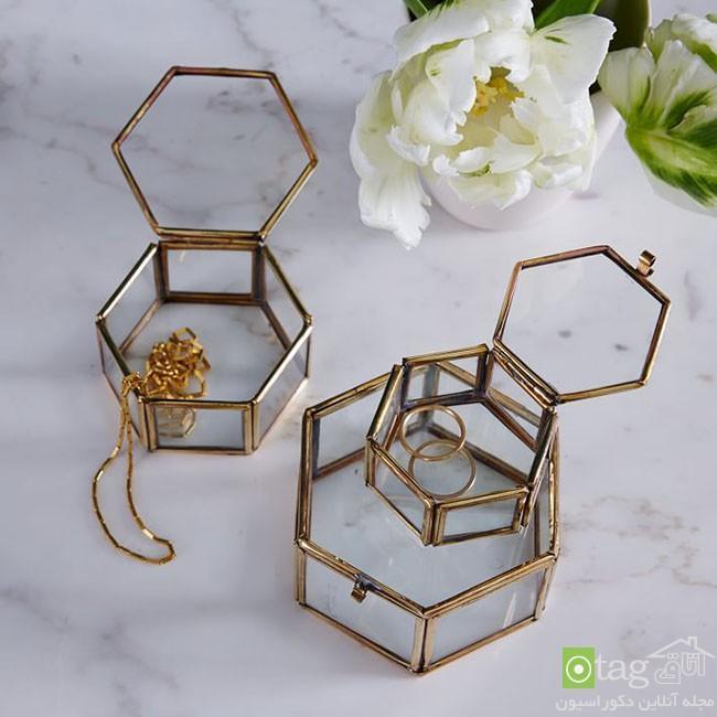 آشنایی با جدیدترین مدل های جعبه جواهرات و دکوری شیشه ای