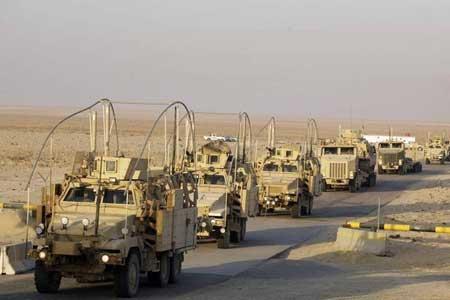 کاروان تروریست های آمریکایی در عراق هدف قرار گرفت