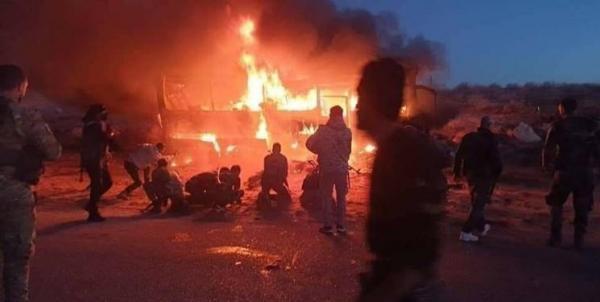 کشته شدن دستکم 6 غیرنظامی در حمله تروریستی به یک اتوبوس در حماه