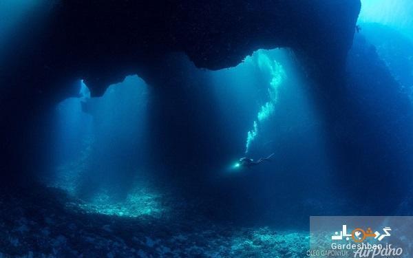 گودال های آبی پالائو ؛ از شگفتی های کم نظیر اقیانوس آرام، عکس