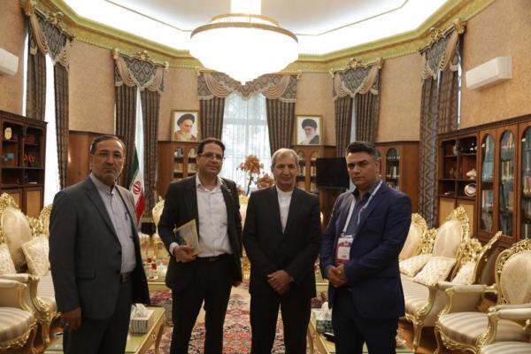 ملاقات هیئت مدیره شرکت دانش بنیان زنجیره بلوکی سبحان با سرکنسولگر ایران در استانبول
